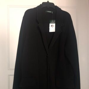 Ralph Lauren Sweater Blazer, Size 2, Plus, NWT